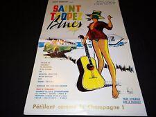 SAINT TROPEZ BLUES Jacques Higelin m laforet rare affiche cinema 1960 promo