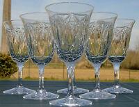Cristallerie de Lorraine Lemberg - Service de 6 verres à eau en cristal taillé