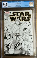 Star Wars #1 Quesada Sketch Cover CGC 9.4 2137054005