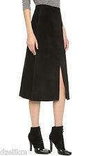 NWT $898 Alexa Chung for AG Ortiz Suede Midi Skirt Size 28