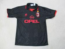 VINTAGE Lotto AC Milan Soccer Jersey Adult Large Black Red Futbol Mens 90s
