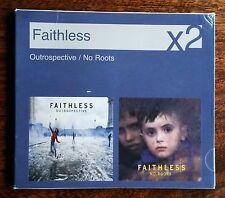 FAITHLESS - 'OUTROSPECTIVE' & 'NO ROOTS' 2 x CD SET (2007) *DANCE *ELECTRONICA