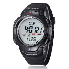 Homme étanche Sports De Plein Air Digital LED Quartz Alarme Montre Bracelet