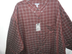 Van Heusen Men's Wrinkle Free Long Sleeve Button Down Shirt size 5X (B78)