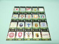 Panini Adrenalyn XL Uefa Euro EM 2020  alle 20 Team Logo Karten Wappen