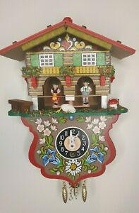 New Engstler Novelty  clocks with Weather house and 1 day movement- model 235 S