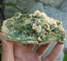 """4.6"""" Green Garnet Crystals: ANDRADITE var. DEMANTOID - Antetezambato, Madagascar"""