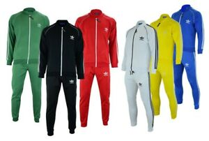 ADIDAS MEN'S TRACKSUIT UPPER & BOTTOM GYM JOGGING SUIT FLEECE ALL SIZES UKSELLER