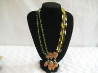 "HEIDI DAUS ""Fall Festival"" (Beaded) Resin Acorn Drop Necklace (Orig. $349.95)"