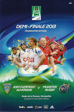 Clermont Auvergne v Munster 27 Apr 2013 Montpellier RUGBY PROGRAMME