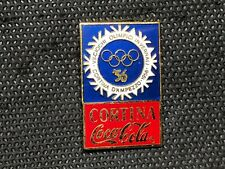 pin's pin ENAMEL COCA COLA NOC JO OLYMPIC CORTINA 1956 VERSION EMAIL EGF