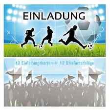 24er Set 12 Einladungskarten 12 Umschlägen   Einladung Kindergeburtstag  Fussball