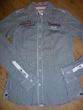 elegante Damen Bluse weiß schwarz rot SOCCX Gr. M / 38 bequem sitzend Langarm