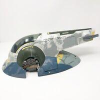 "Star Wars Clone Wars Slave 1 Vehicle 20"" Boba Fett's Ship Hasbro 2010 Incomplete"
