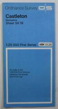 1971 Old Vintage OS Ordnance Survey 1:25000 First Series Map SK 18 Castleton