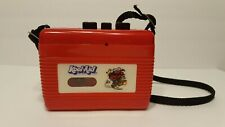 Vintage 1980's Red Kool Aid Cassette Player Walkman Works But Needs Repairs
