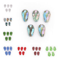 10/20pcs Loose Glass Crystal Teardrop Spacer Beads DIY Jewelry Findings 18x12mm