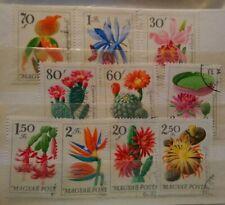 Hongrie Série 10 Timbres Fleurs / Oblitérés