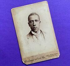New listing Proud Southern Black Gentleman Richmond Virginia c 1884 Cabinet Card Photo Vtg