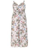 New Simply Be Emily Grey Floral Print Wrap Plus Size Maxi Dress