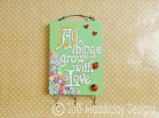 Wooden Floral & Garden Wall Hangings