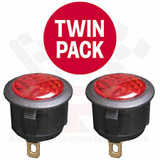 TWIN PACK RED 12 Volt LED Warning Light Race Rally Off Road Kit Drift Car