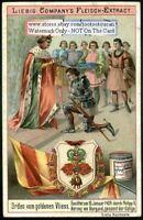 Order of the Golden Fleece Orden Von Goldenen Vliess c1898 Trade Ad  Card