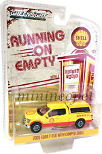 GREENLIGHT 41030 E SHELL OIL 2016 FORD F-150 PICK UP TRUCK 1/64 w CAMPER SHELL