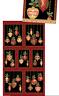 "Festive Ornaments Panel Black 100% Cotton Quilting Fabric 44"" x 23"""