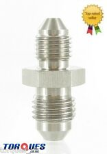 """AN -3 ( 3AN) to 7/16"""" x 20 UNF Stainless Steel Adapter"""