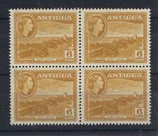 ANTIGUA 1953 DEFINITIVES SG126a 6c BLOCK OF 4 MNH