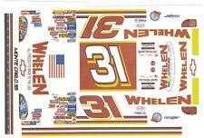 #31 Steve Park Whelen Racing 1/32nd Scale Slot Car Decals