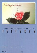 N° TP SA 1017 TELEGRAMME POLOGNE ROSE