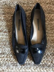 Manolo Blahnik Grey Wool Loafer Flats 38 / 8
