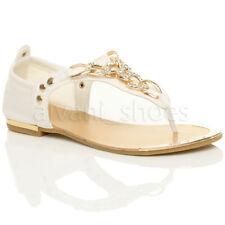 Calzado de mujer chanclas/flip flops planos, Talla 38