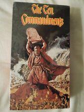 The Ten Commandments - VHS Video - COLLECTIBLE - Brand New  Original Shrink Wrap