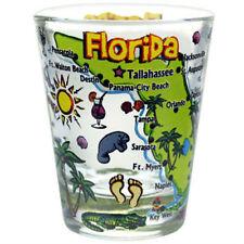 FLORIDA MAP POP ART SHOT GLASS SHOTGLASS
