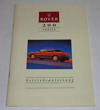 Istruzioni D'Uso / Manuale Rover 214 Si 16 V / Sli 16 V / Gsi 16 V Ausg.1990