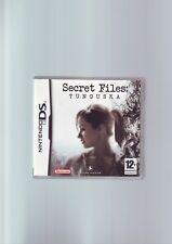 SECRET FILES : TUNGUSKA - ADVENTURE NINTENDO DS GAME / LITE DSi 3DS COMPLETE VGC