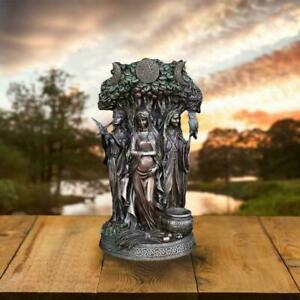 New Greek Religious Resin Statues Irish Triple Goddess Decoration Bronze R9R1