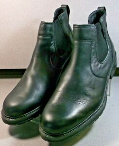 LOPEZ BLACK MMMSBT90 Men's Shoes Size 13 EUR 12.5 Leather Slip On Boots Mephisto