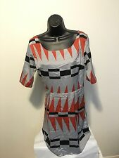 MY STORY Women's Dress Sz Med Multicolor Print Racer Back Half Sleeve Gorgeous!!