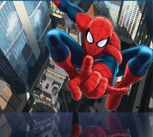 Spider-Man Papier Peint Mural Mur Enfants Chambre Marvel Premium Photo Bleue