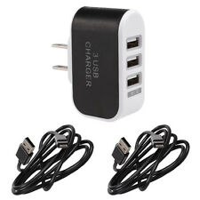 Home AC Wall Outlet To USB Power Adapter Triple Socket 3 Port Fast Rapid Charger