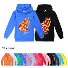 Kids Boys Girls Prestonplayz Pizza Flame Hoodies Sweatshirt Pullover Tops UK