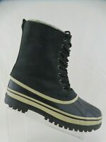 SOREL Surge Black Sz 11 Men Winter Snow Insulated Rubber Boots