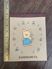 New Zashikibuta Pig Stationary Note Pad Hello Kitty Vintage Sanrio