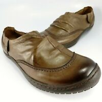 Kalso Earth Shoes INVOKE Side-Zip Loafers Women's Size 6.5B Brown Soft Leather
