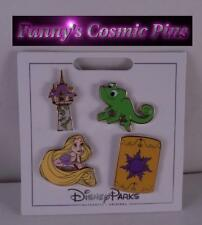 Disney 2017 Tangled-Rapunzel, Castle, Pascal, Lantern 4 Piece Trading Pin Set