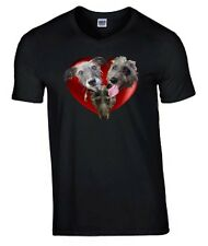 Plus Size Tee 3 Lurchers in Heart Tshirt 3XL- 5XL Dog T-shirt Mothers Day Gift